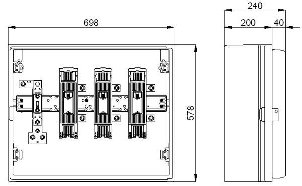 ARMARIO SECCIONAMIENTO CS-400/400-E 400A EMPOTRABLE 0555064 CAHORS 4