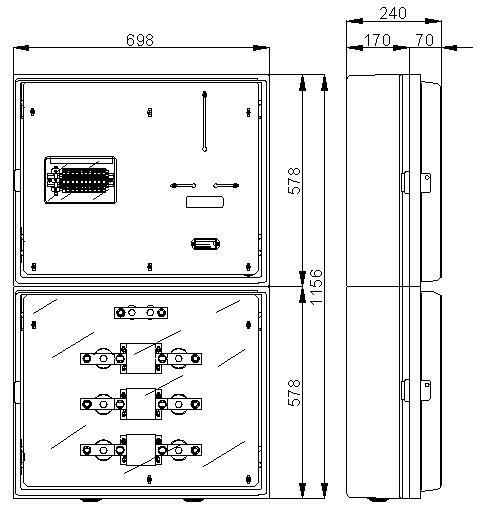 CAJA MEDIDA TRANSFORMADOR 300A CMT300EM MAXINTER EMPOTRABLE 0255500 CAHORS 1