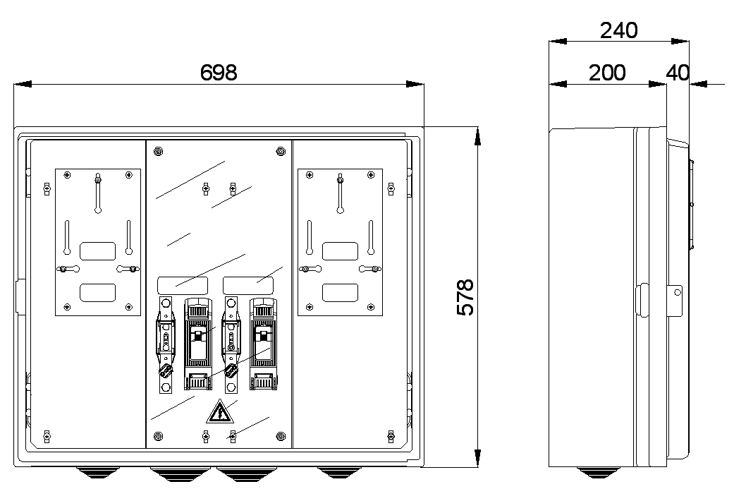 CAJA MEDIDA CPM3-D2/2-M MAXINTER 2 MONOFÁSICO EMPOTRABLE CAHORS 1